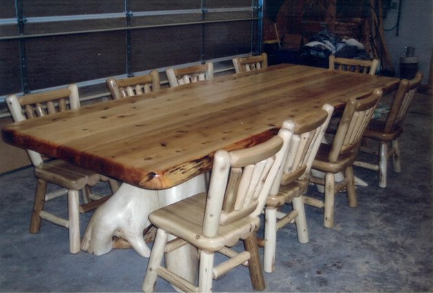 Cedar Stump Base Table