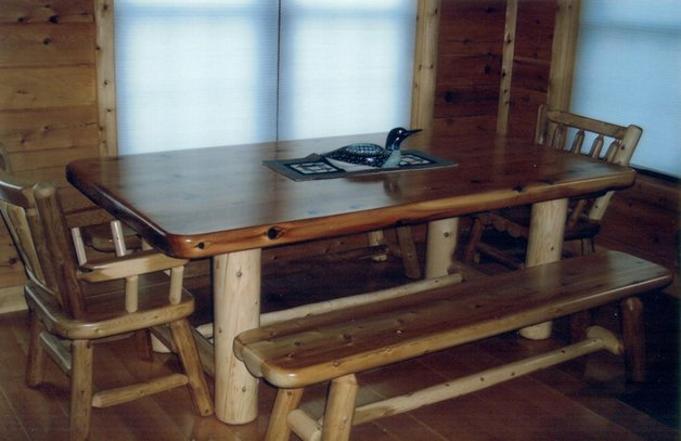 Explore rustic log dining room game tables for Dining room game table