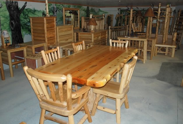 explore rustic log dining room game tables. Black Bedroom Furniture Sets. Home Design Ideas