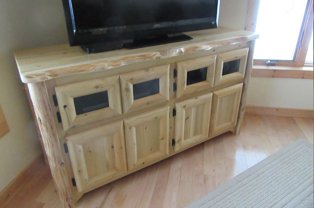 cedar entertainment tv stand - image