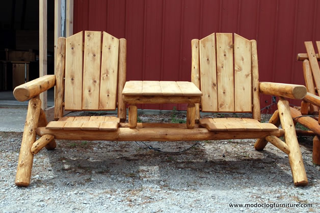 Cedar Outdoor Log Furniture Tables Chairs More